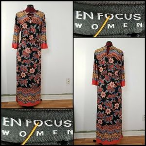 En Focus Woman Formal Floral Long Dress Size 16W